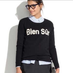 Madewell Black Crew Neck Sweater Bien Sur EUC